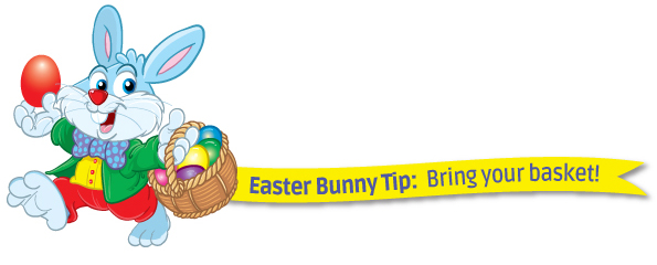 easter bunny tip for kissimmee easter egg hunt bring your basket