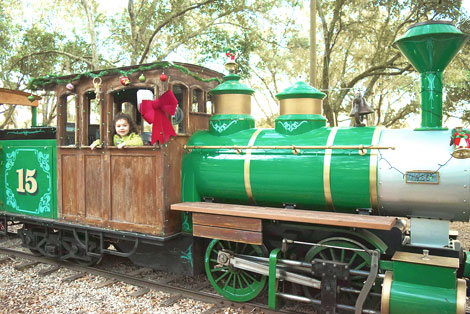 ride the christmas holiday train green meadows farm kissimmee
