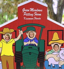 fun barn cutout for great photos green meadows farm kissimmee fl